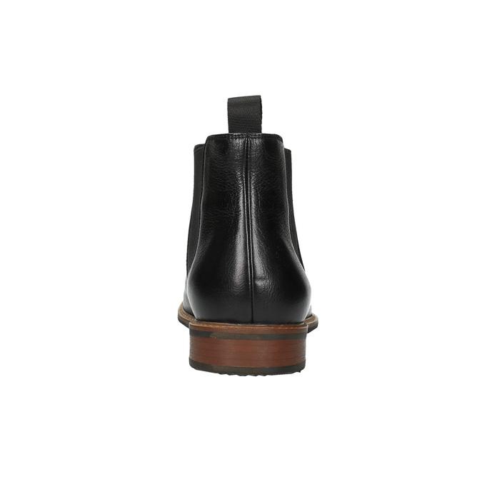 Skórzane buty typu Chelsea bata, czarny, 894-6666 - 17