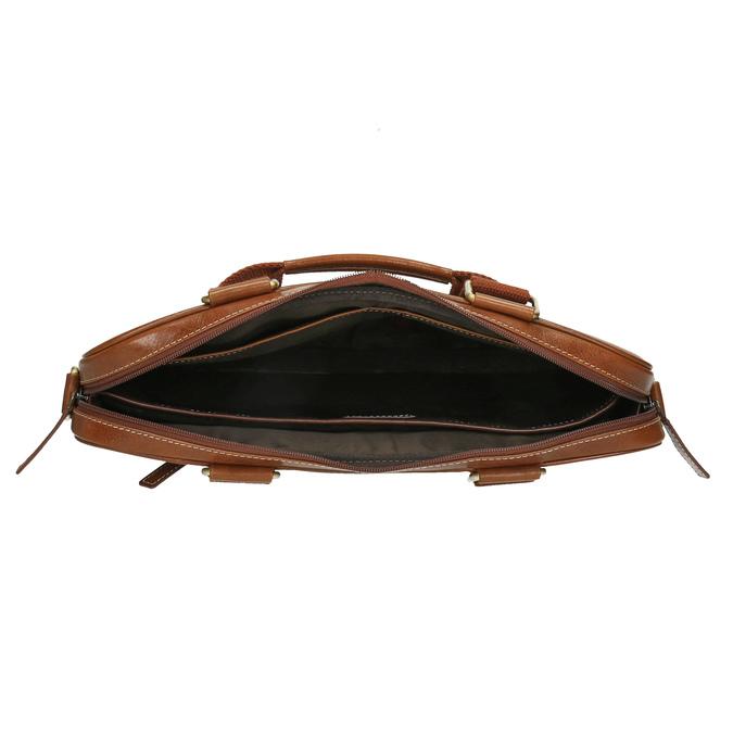 Brązowa torba męska ze skóry bata, brązowy, 964-3204 - 15