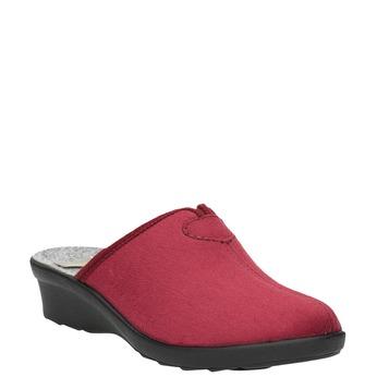 Kapcie damskie zpełnym noskiem bata, czerwony, 579-5602 - 13