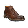 Męskie skórzane buty zimowe bata, brązowy, 894-3672 - 13