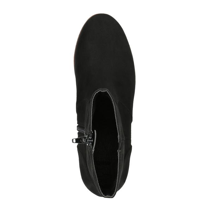 Botki na platformie bata, czarny, 699-6601 - 19