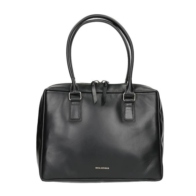 Czarna skórzana torba ze sztywnymi uchwytami royal-republiq, czarny, 964-6014 - 26