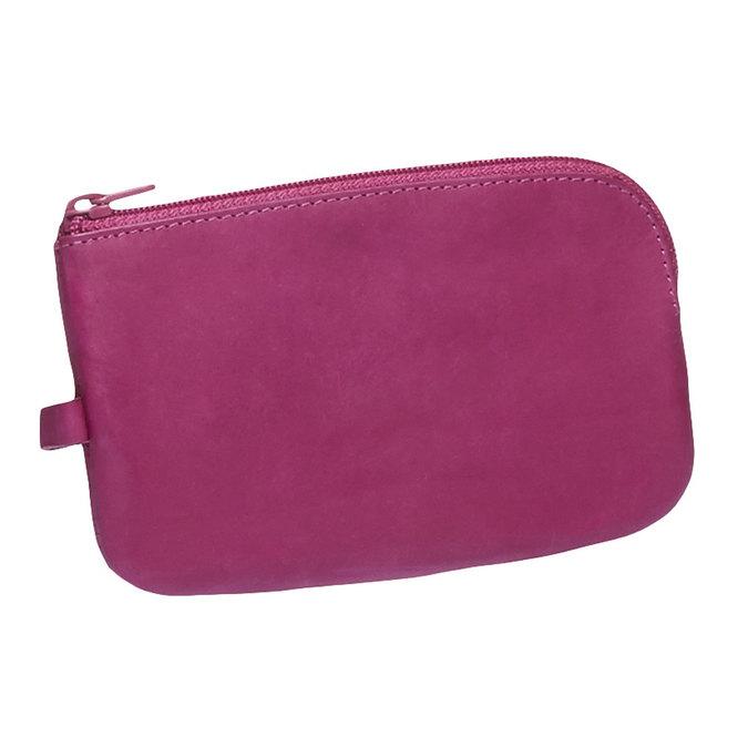 Skórzany portfel bata, różowy, 944-5161 - 13