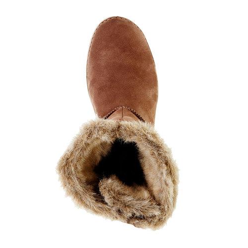 Skórzane botki weinbrenner, brązowy, 596-4334 - 19