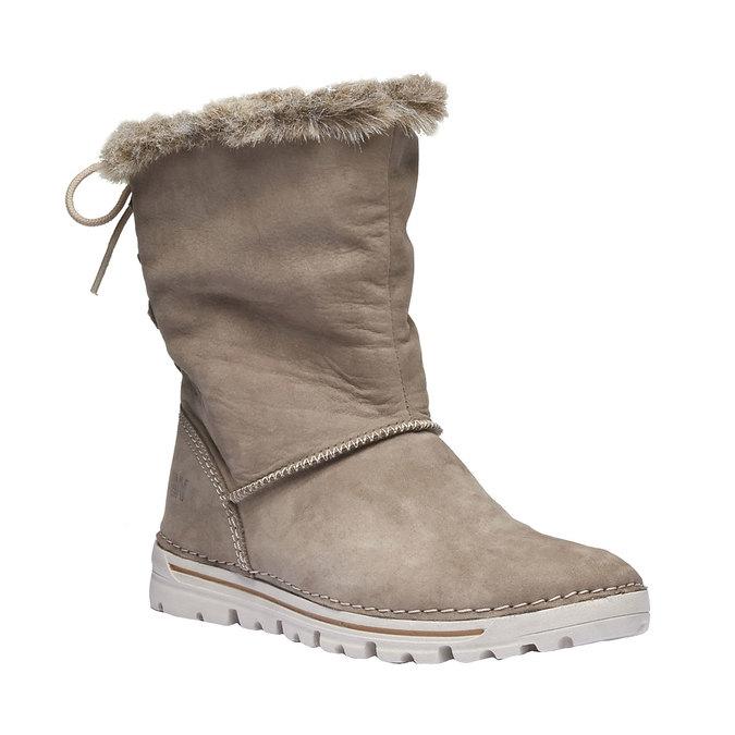 Zimowe buty damskie zfuterkiem weinbrenner, beżowy, 596-2334 - 13