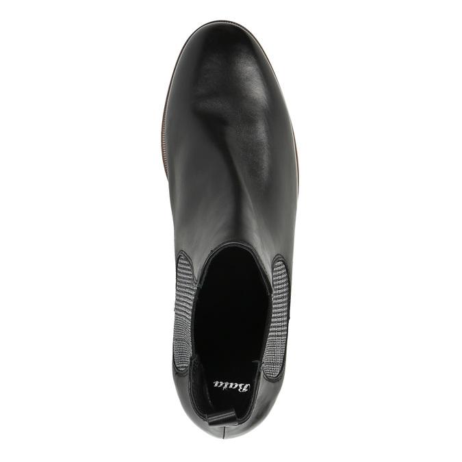 Damskie skórzane buty Chelsea Boots bata, czarny, 596-6607 - 19