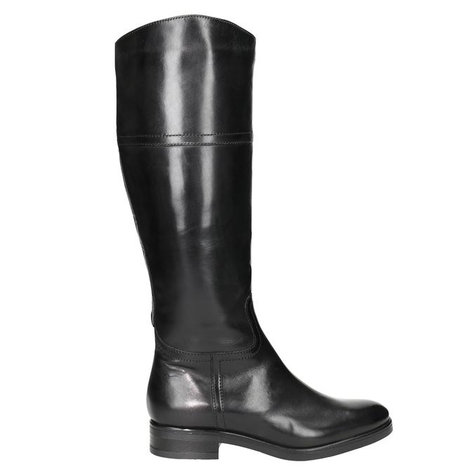 Damskie skórzane kozaki bata, czarny, 594-6606 - 26