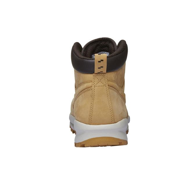Skórzane buty męskie za kostkę nike, brązowy, 806-8435 - 16