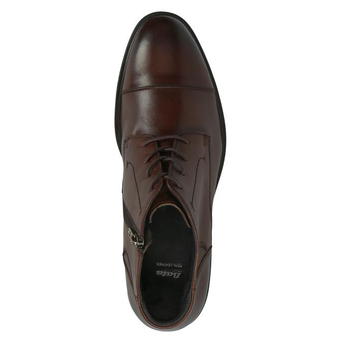 Męskie skórzane buty do kostki bata, brązowy, 894-4671 - 19
