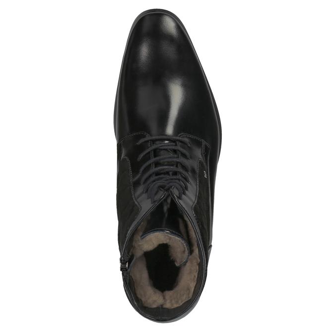 Skórzane ocieplane buty za kostkę conhpol, czarny, 894-6677 - 19