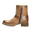 Skórzane buty zimowe zfuterkiem bata, brązowy, 594-4609 - 26