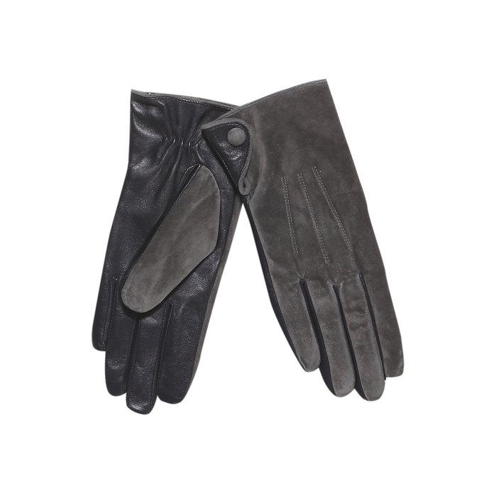 Skórzane damskie rękawiczki bata, szary, 903-2101 - 13