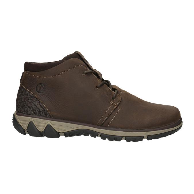 Skórzane buty męskie za kostkę merrell, brązowy, 806-4842 - 15