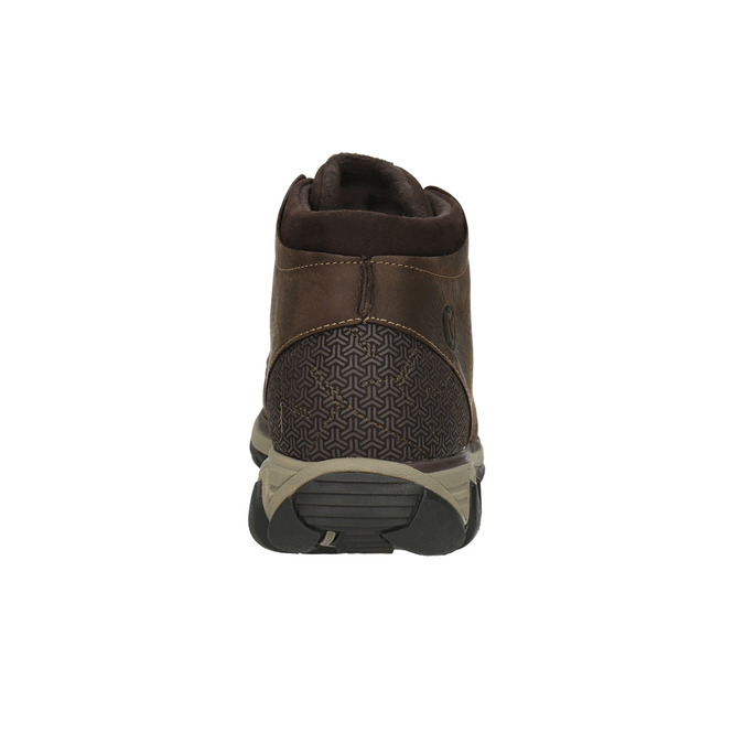 Skórzane buty męskie za kostkę merrell, brązowy, 806-4842 - 17