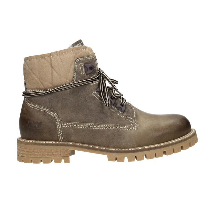 Skórzane buty zimowe zfuterkiem weinbrenner, brązowy, 594-2491 - 26
