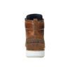 Skórzane buty za kostkę, zpodeszwą wnieformalnym stylu bata, brązowy, 894-3660 - 17