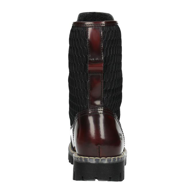 Skórzane sznurowane buty na wyrazistej podeszwie weinbrenner, czerwony, 596-5635 - 17