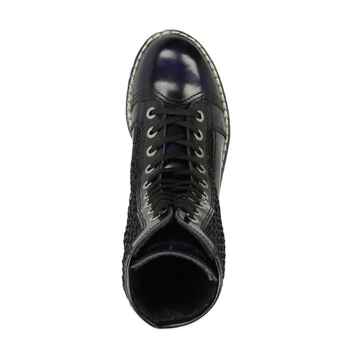 Skórzane sznurowane buty na wyrazistej podeszwie weinbrenner, czarny, 596-9635 - 19