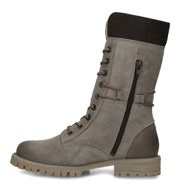 Zimowe sznurowane buty damskie weinbrenner, szary, 593-2476 - 17