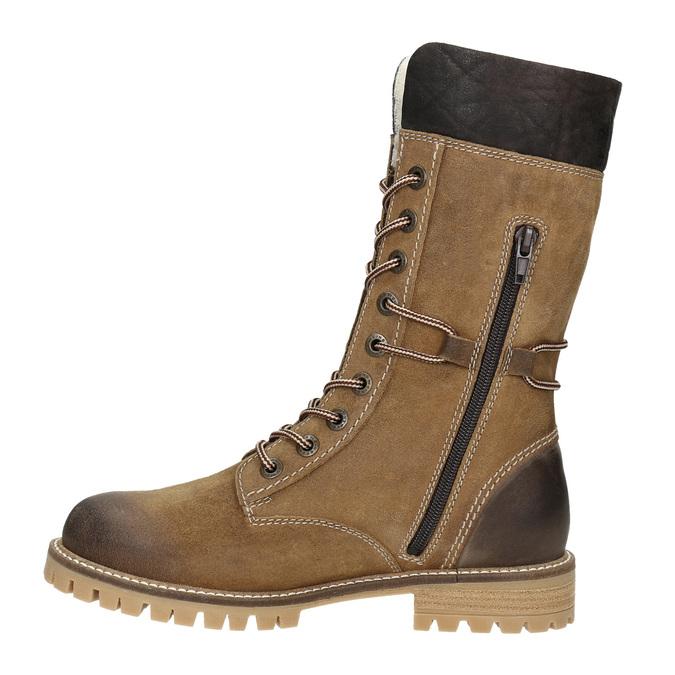 Zimowe buty damskie zfuterkiem weinbrenner, brązowy, 593-8476 - 15