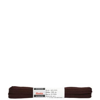 Brązowe sznurowadła płaskie bata, brązowy, 901-4120 - 13