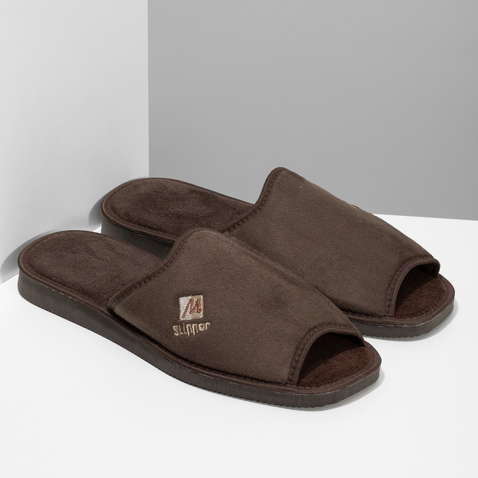 Kapcie męskie bata, brązowy, 879-4606 - 26