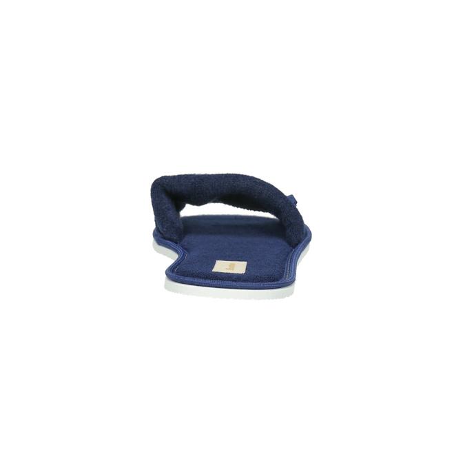 Kapcie damskie zkokardką bata, niebieski, 579-9609 - 17