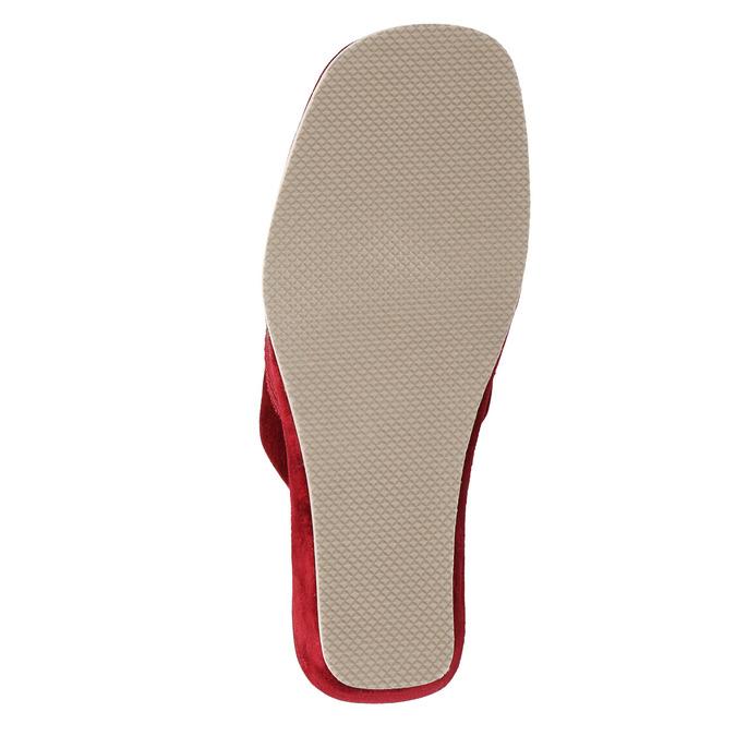 Kapcie damskie na koturnie bata, czerwony, 679-5607 - 26