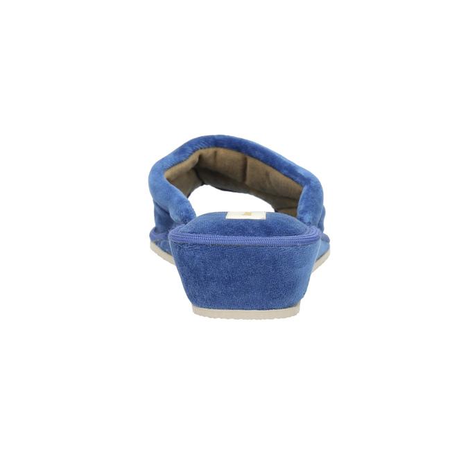 Kapcie damskie bata, niebieski, 679-9606 - 17