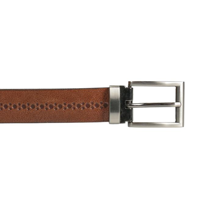 Skórzany męski pasek bata, brązowy, 954-3101 - 26