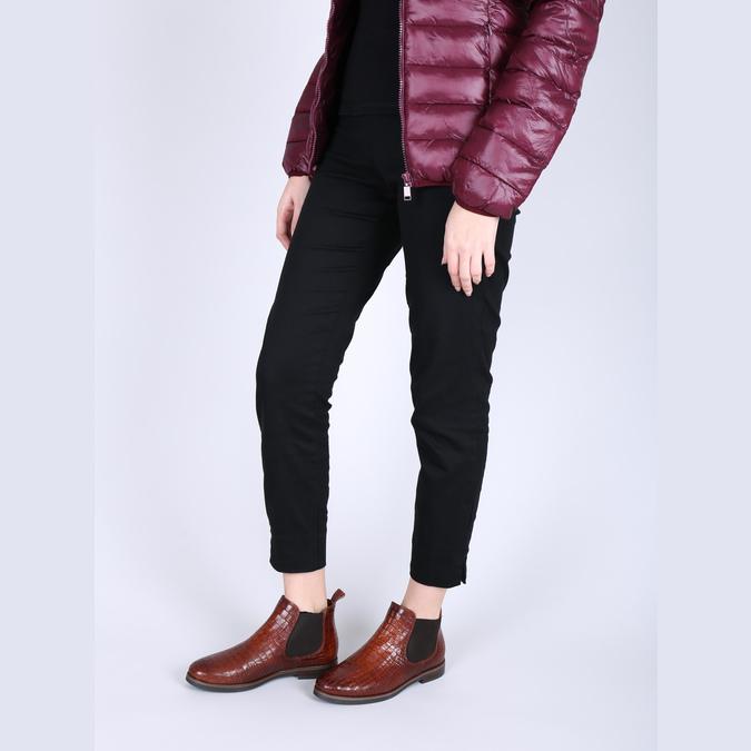 Chelsea boots ze skóry bata, brązowy, 596-4606 - 18