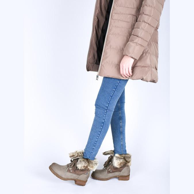 Zimowe buty damskie zfuterkiem bata, brązowy, 591-3605 - 18
