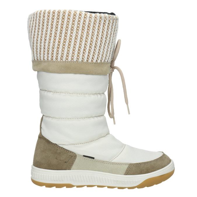 Śniegowce damskie zdzianinowymi mankietami weinbrenner, biały, 599-8500 - 15