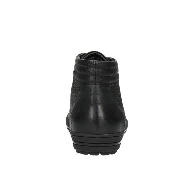 Trampki damskie za kostkę bata, czarny, 594-6659 - 17