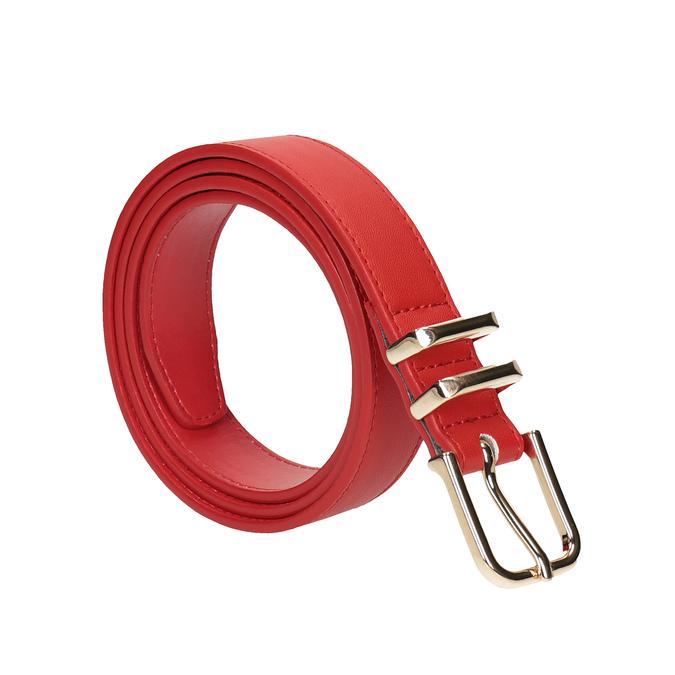 Czerwony pasek damski bata, czerwony, 951-5601 - 13