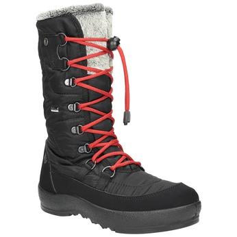 Czarne śniegowce damskie zfuterkiem weinbrenner, czarny, 599-6612 - 13