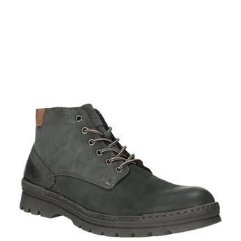 Skórzane męskie buty do kostki weinbrenner, szary, 896-2107 - 13