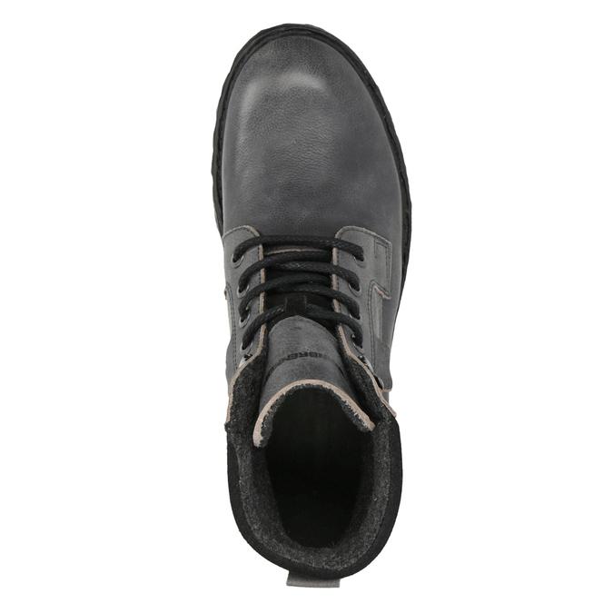 Skórzane buty za kostkę na grubej podeszwie weinbrenner, szary, 896-2110 - 19