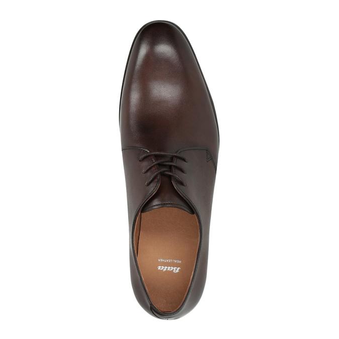 Brązowe półbuty zeskóry bata, brązowy, 824-4754 - 19