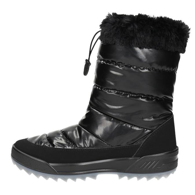 Czarne śniegowce zfuterkiem weinbrenner, czarny, 591-6617 - 19