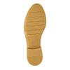 Skórzane półbuty damskie zperforacją bata, brązowy, 526-4621 - 26