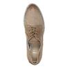 Skórzane półbuty damskie zperforacją bata, brązowy, 526-4621 - 19