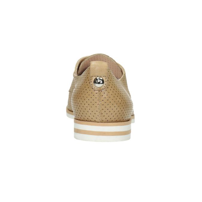 Nieformalne skórzane półbuty damskie bata, beżowy, 526-3626 - 17