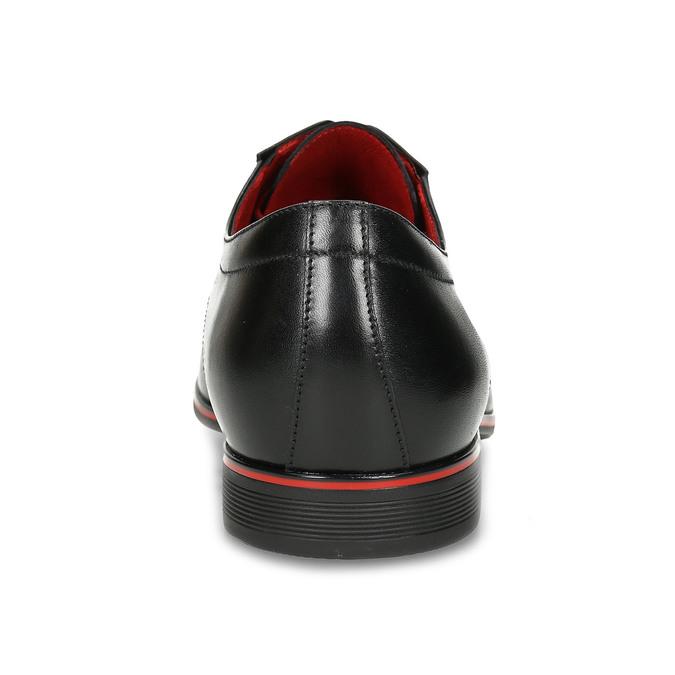 Skórzane półbuty zczerwonymi detalami conhpol, czarny, 824-6873 - 15