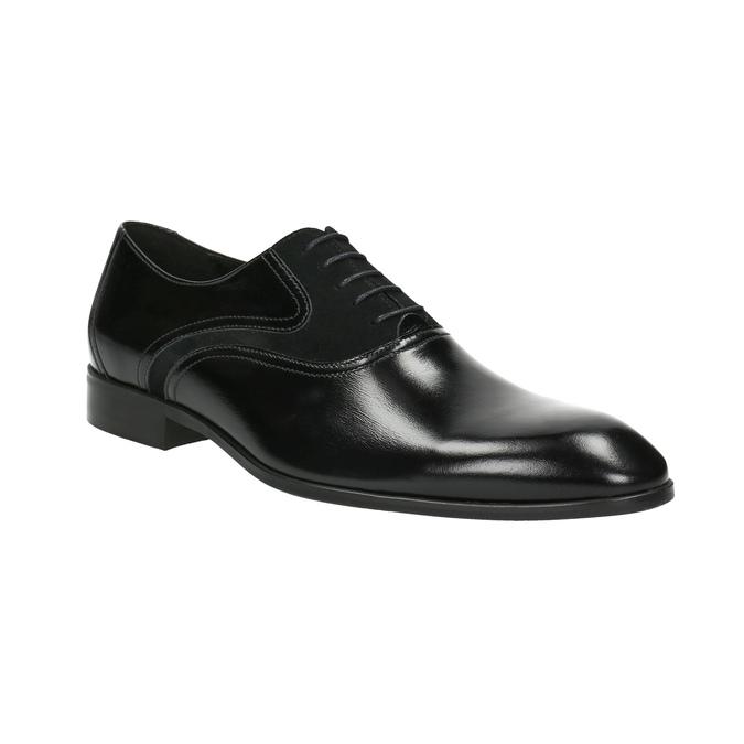 Czarne skórzane półbuty typu oksfordy conhpol, czarny, 824-6887 - 13