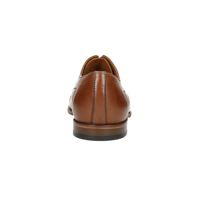 Brązowe półbuty zeskóry conhpol, brązowy, 824-3856 - 17