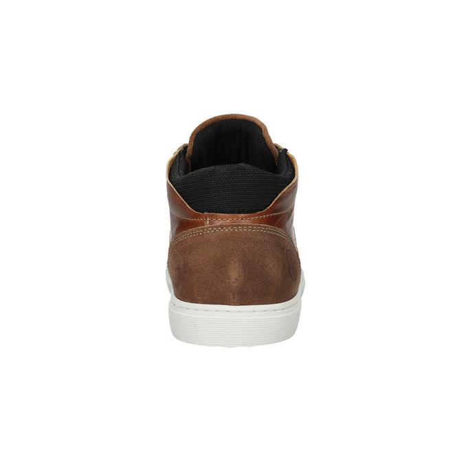 Skórzane trampki za kostkę bata, brązowy, 844-3631 - 17
