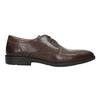 Skórzane półbuty męskie zprzeszyciem na nosku bata, brązowy, 824-4815 - 15