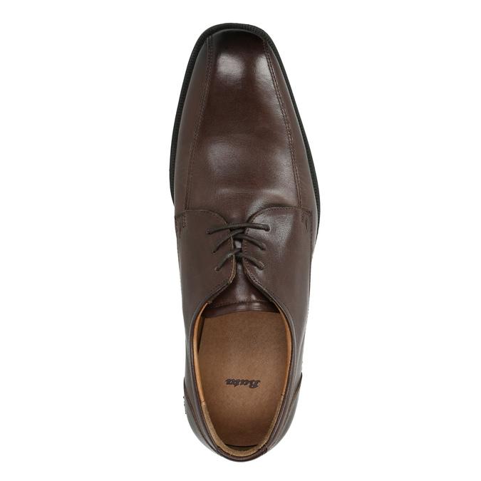 Skórzane półbuty męskie zprzeszyciem na nosku bata, brązowy, 824-4815 - 19