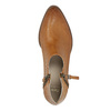 Skórzane botki zperforacją bata, brązowy, 596-4647 - 19
